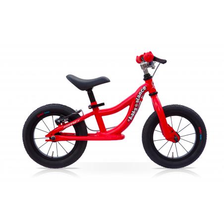 "Bicicleta 12"" balance sin pedales roja"