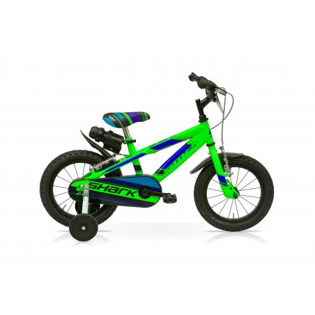 "Bicicleta boy 14"" 1v shark verde"