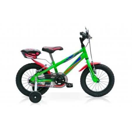 "Bicicleta boy 16"" 1v shark verde"